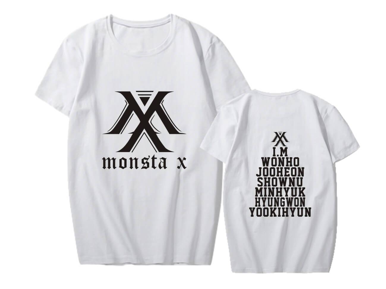 MONSTA X Member Name Printed T-shirt