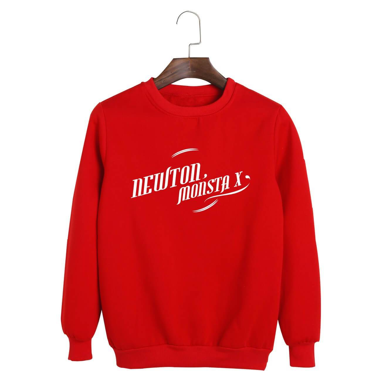 MONSTA X NEWTON Printed Cotton Unisex Loose Hoodie