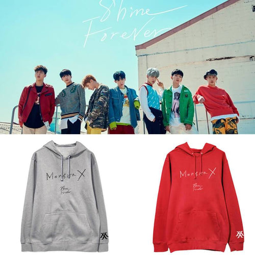 MONSTA X SHINE FOREVER Album Printed Cotton Casual Hoodie