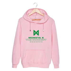MONSTA X THE CONNECT Album Printed Cotton Casual Hoodie