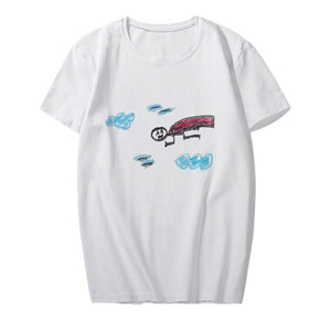 NCT 127 Hand-Painted Cartoon Printed Casual T-shirt