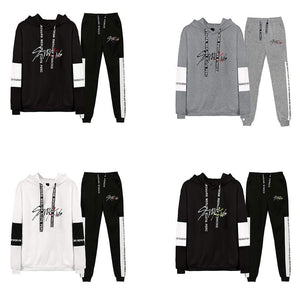 Stray Kids Casual Loose Cotton Hoodie Set