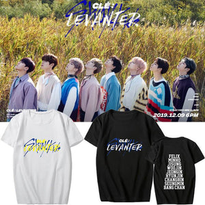 Stray Kids Clé: LEVANTER Printed Casual T-shirt