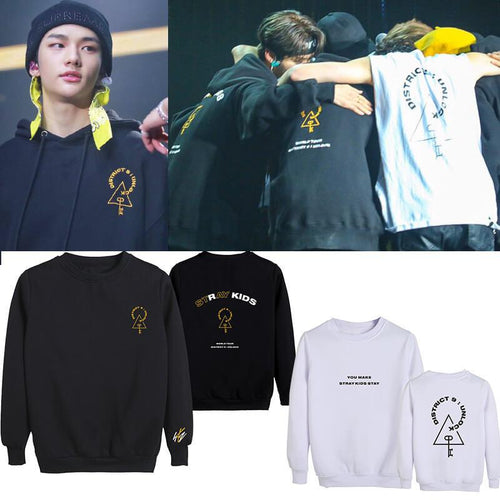 Stray Kids District 9 Unlock Same Cotton Unisex Casual Sweatshirt
