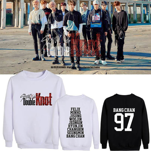 Stray Kids Double Knot Album Same Cotton Casual Unisex Sweatshirt