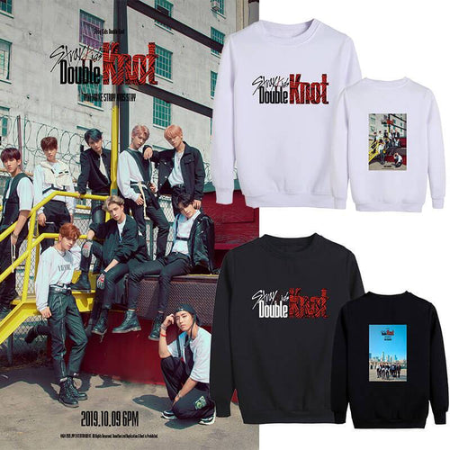 Stray Kids Double Knot Printed Cotton Sweatshirt