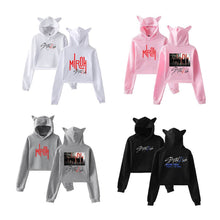 Load image into Gallery viewer, Stray Kids Fashion Cat Ears Cotton Hoodie