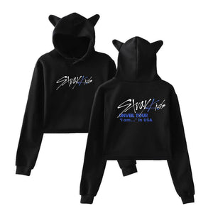 Stray Kids Fashion Cat Ears Cotton Hoodie