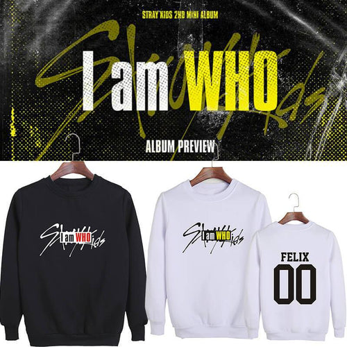 Stray Kids I am WHO Member Printed Cotton Sweatshirt