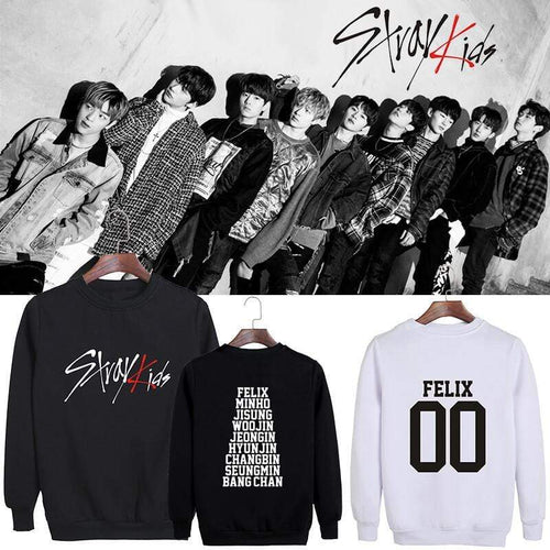 Stray Kids Loose Cotton Casual Sweatshirt
