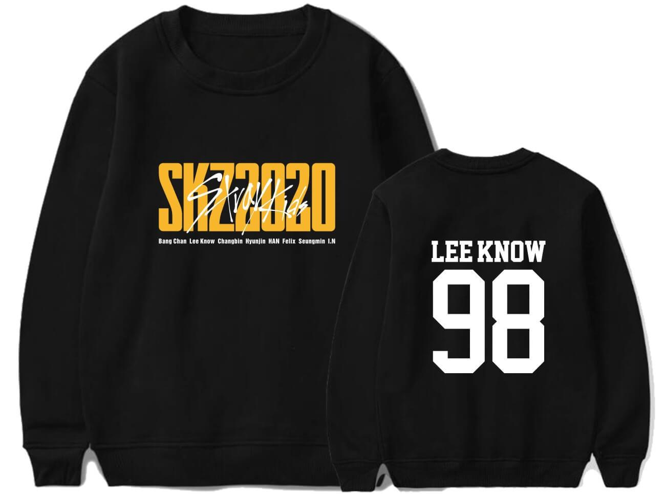 Stray Kids SKZ2020 Album Printed Cotton Casual Sweatshirt