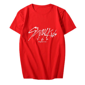 Stray Kids TOP English ver Printed Casual T-shirt