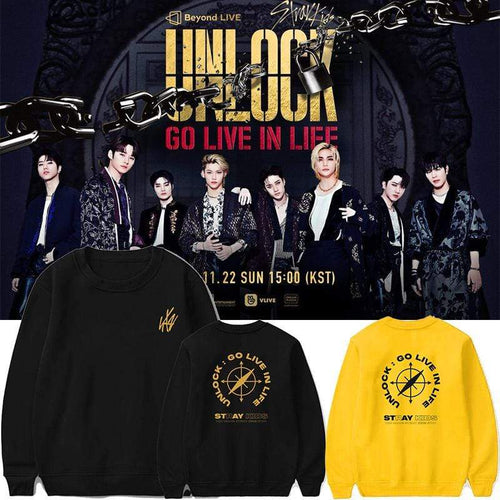 Stray Kids Unlock:GO LIVE IN LIFE Sweatshirt