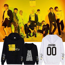 Load image into Gallery viewer, Stray Kids Yellow Wood Member Name Printed Cotton Hoodie