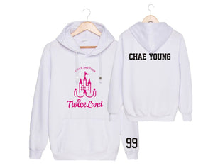 TWICE 2ND TOUR Concert Printed Cotton Casual Hoodie