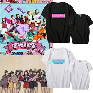 TWICE Candy Pop Printed Cotton Casual T-shirt
