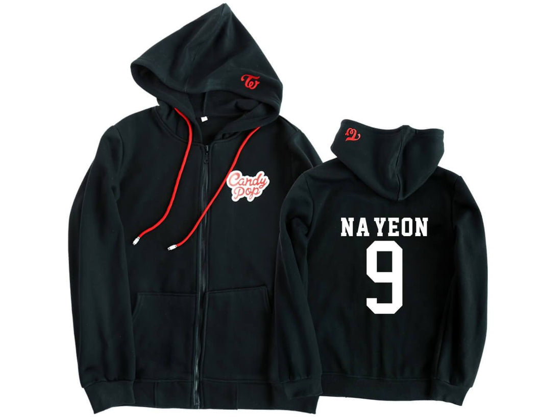 TWICE Candy Pop Same Cotton Casual Zipper Hoodie