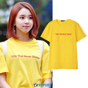 TWICE Chaeyoung Street Shot Same Printed T-shirt