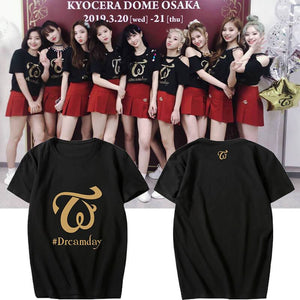 TWICE Dreamday Concert Printed Casual T-shirt