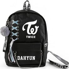 Load image into Gallery viewer, TWICE Korean Member Printed Ribbon Backpack
