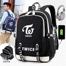 Load image into Gallery viewer, TWICE Large Capacity USB Charging Canvas Backpack