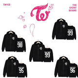 TWICE Member Name Print Zipper Hoodie