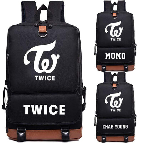 TWICE Member Printed Korean Nylon Backpack