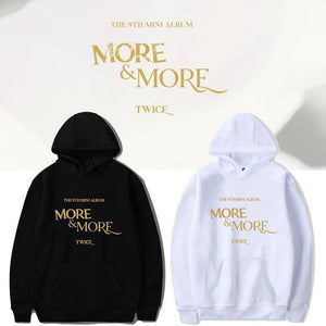TWICE MORE & MORE Album Cotton Casual Hoodie