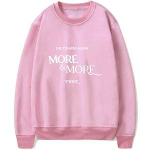 TWICE MORE & MORE Album Printed Cotton Sweatshirt