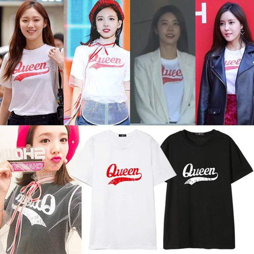 TWICE Nayeon Same Letter Printed T-shirt