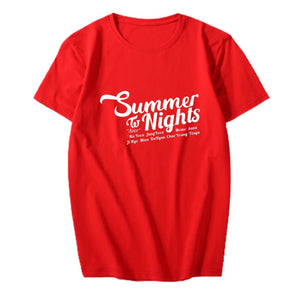 TWICE Summer Nights Album Printed Casual Loose T-shirt