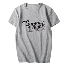 Load image into Gallery viewer, TWICE Summer Nights Album Printed Casual Loose T-shirt