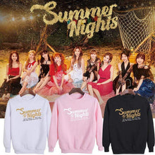 Load image into Gallery viewer, TWICE Summer Nights Album Printed Cotton Loose Sweatshirt
