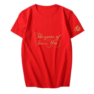 TWICE The year of Yes Album Printed Casual T-shirt
