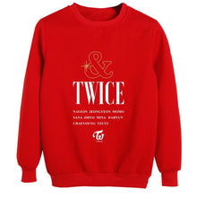 "Load image into Gallery viewer, ""TWICE & TWICE"" Album Printed Sweatshirt"