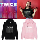 TWICE TWICE LIGHTS Printed Cotton Loose Hoodie