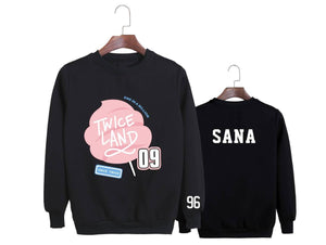 TWICE TWICELAND Concert Printed Cotton Loose Sweatshirt