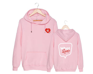 TWICE What is Love Same Printed Cotton Loose Hoodie