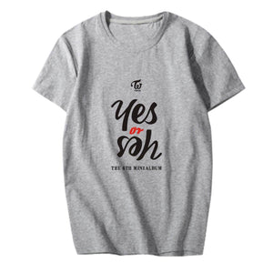 TWICE Yes or Yes Album Printed Casual Loose T-shirt