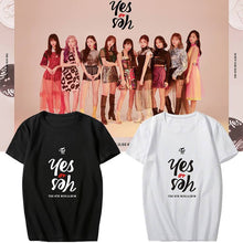 Load image into Gallery viewer, TWICE Yes or Yes Album Printed Casual Loose T-shirt