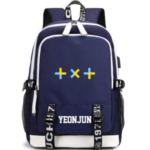 TXT Large Capacity USB Charging Backpack