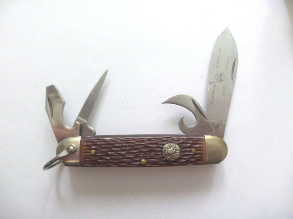 Camillus BSOA Boy Scouts of America Scout Knife 4-Blade Folding Knives