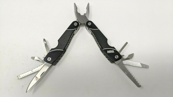 NRA Multi Tool 13 in 1 Functions Black Stainless Steel w/Textured G10 Handle