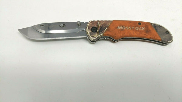 Mossy Oak Quick Change Replaceable Blade Folding Pocket Knife Orange Rubber