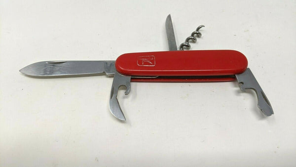 Vintage Mikov Swiss Army Pocket Knife 6 Functions Red Corkscrew Punch Can Opener
