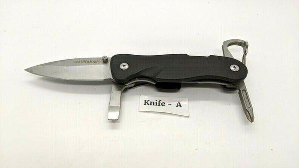 Leatherman Crater C33T/TX Folding Pocket Knife/Multi Tool Blk Nylon Discontinued