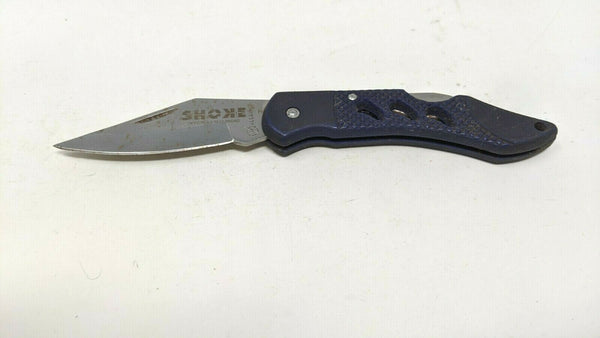 "Albainox Folding Pocket Knife Lockback Navy Blue G10 Grip Handle ""SHOKE"" Logo"