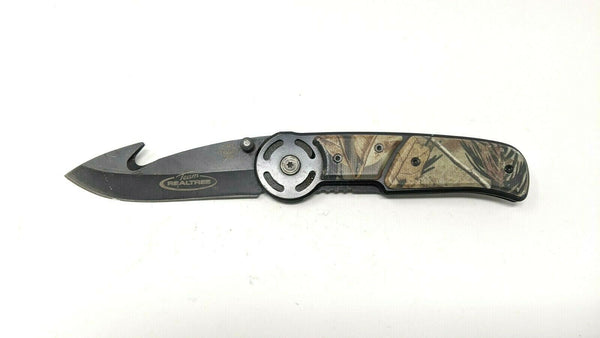 Utica Cutlery Team Realtree Folding Pocket Knife UTKRT660CP Liner Guthook Blade