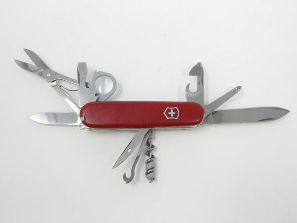 Large Victorinox Red Multi-Tool Officier Suisse w/ Mag Glass *Damaged Handle*