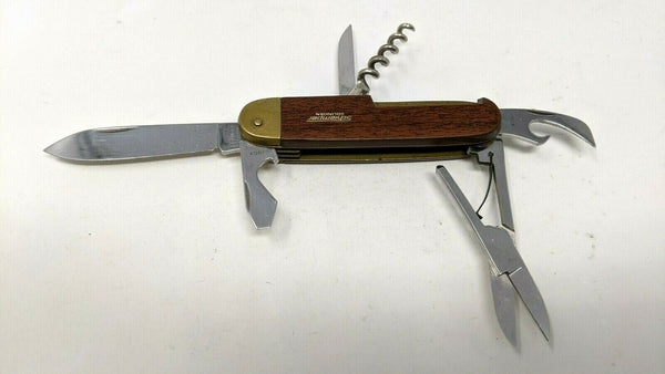 Schlemper Inox Solingen Germany SAK Folding Knife Wood w/Brass Bolster Handle
